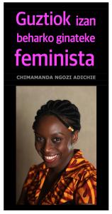 Guztiok izan beharko ginateke feminista Azala